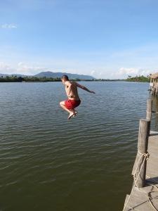 Taking a plunge in Kampot