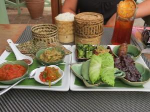 Laos food sampler