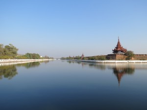 Mandalay Palace moat