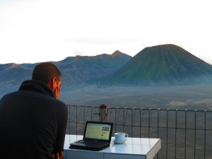 View of Bromo from our hotel