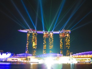 Marina Bay Sands Hotel Light Show