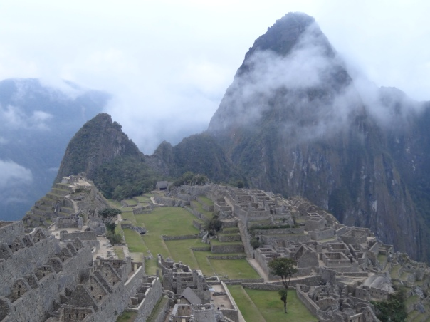 Machu Picchu and Huayna Picchu in the mist