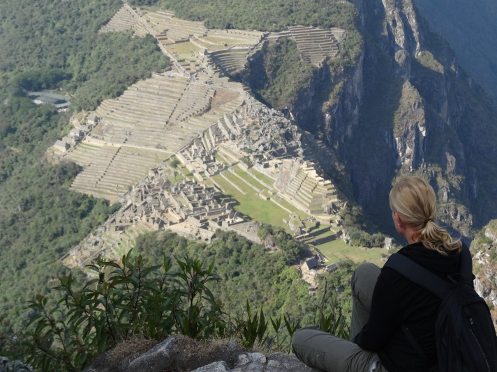 View from the top of Huayna Picchu