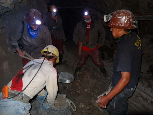 Miners (and gringos) at work
