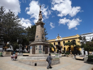 The main square in Potosi